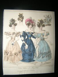 World of Fashion 1829 Hand Col Fashion Print 11